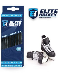 Elite Hockey Pro-Series Premium Laces Black-Blue