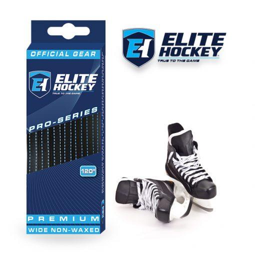 Elite Hockey Pro-Series Premium Laces Black-Blue