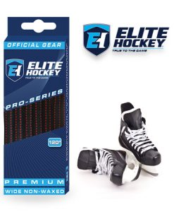Elite Hockey Pro-Series Premium Laces Black-Red