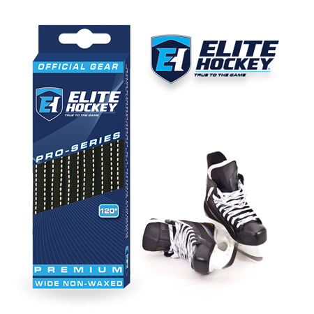 Elite Hockey Pro-Series Premium Laces Black-White