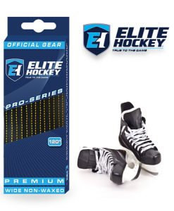 Elite Hockey Pro-Series Premium Laces Black-Yellow