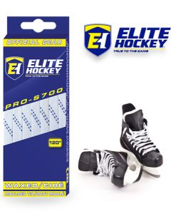 e Hockey Waxed Laces Pro-S700 White Navy