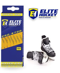 e Hockey Waxed Laces Pro-S700 Yellow / Navy