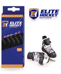 Lacet Pro-X7 de Elite Hockey sans Cire Noir-Blanc