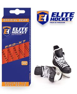 Elite Hockey Pro-X7 Orange-Black Non Waxed Laces