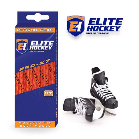 Elite Hockey Pro-X7 Orange-Black Non Waxed Laces
