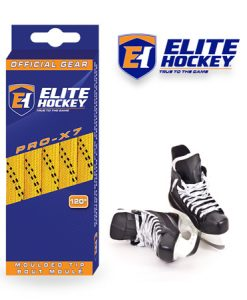 Elite Hockey Pro-X7 Yellow-Black Non Waxed Laces