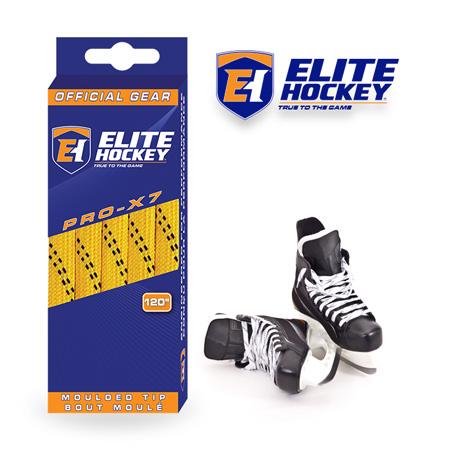 Elite Hockey Pro-X7 Yellow-Black Non Waxed Laces