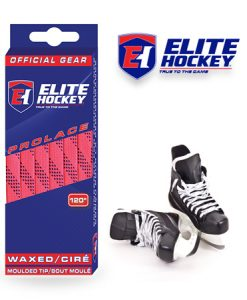 Elite Hockey Prolace Pink Navy Waxed Laces