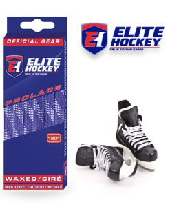 Elite Hockey Prolace Purple White Waxed Laces