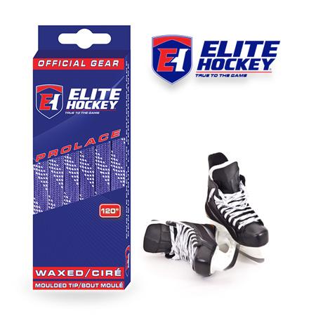 Elite Hockey Prolace Purple White Waxed Laces