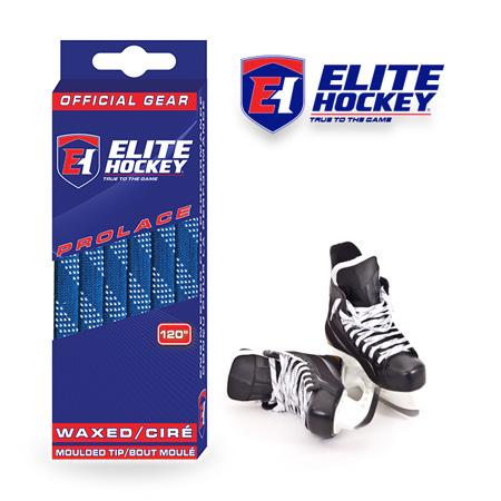 Elite Hockey Prolace Royal White Waxed Laces