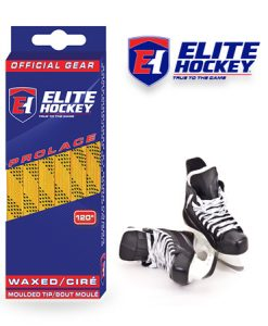 Elite Hockey Prolace Yellow Black Waxed Laces