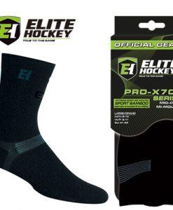 Elite Hockey Pro-X700 Socks Ultra Sport Bamboo - Mid-Calf - Black