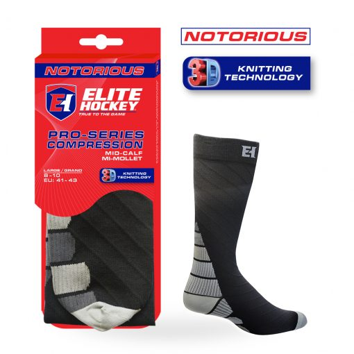 Chaussettes Notorious Hockey Pro-Series Compression - Mi-Mollet