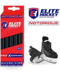 Notorious Pro X Series Waxed Laces Elite Hockey Black