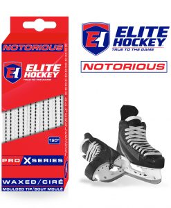 Notorious Pro X Series Waxed Laces Elite Hockey White