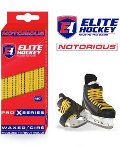Notorious Pro X Series Waxed Laces Elite Hockey Yellow