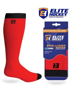 Elite Hockey Pro-Liner Series Junior Knee Red