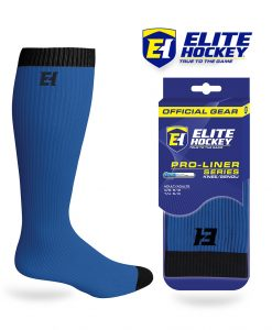 Elite Hockey Chaussettes Pro-Liner Adulte Bleu Foncé