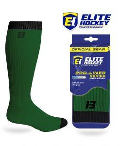 Elite Hockey Chaussettes Pro-Liner Adulte Vert