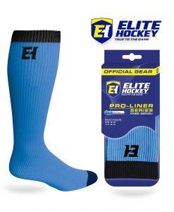 Elite Hockey Chaussettes Pro-Liner Adulte Bleu Clair