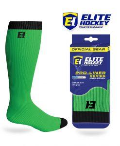 Elite Hockey Chaussettes Pro-Liner Adulte Vert Lime