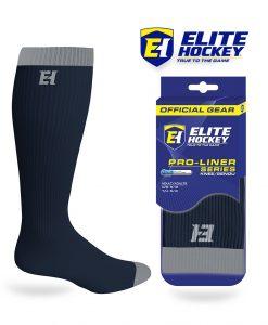 Elite Hockey Chaussettes Pro-liner Adulte Genou Bleu Marine