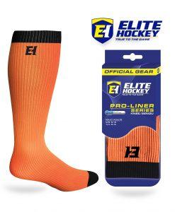 Elite Hockey Chaussettes Pro-Liner Adulte Orange