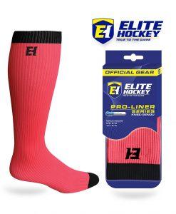 Elite Hockey Chaussettes Pro-Liner Adulte Rose