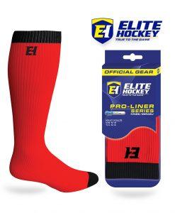 Elite Hockey Chaussettes Pro-Liner Adulte Rouge